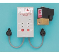 PILOT GAS ALARM DOUBLE SENSOR WITH GAS SHUT OFF VALVE 12V
