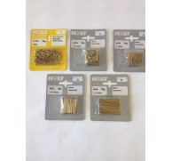 PRE-PACK BRASS PANEL PINS  12mm TO 38mm 5 LENGTHS