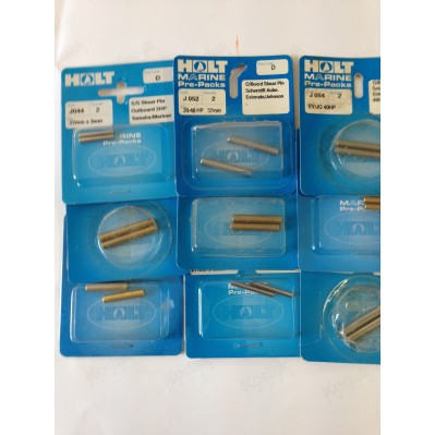 PRE-PACK SHEER PINS FOR OUTBOARD MOTORS