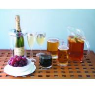 CLEAR ACRYLIC DRINKWARE 6 OPTIONS