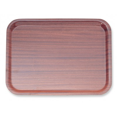 NON SLIP TRAY WOOD EFFECT
